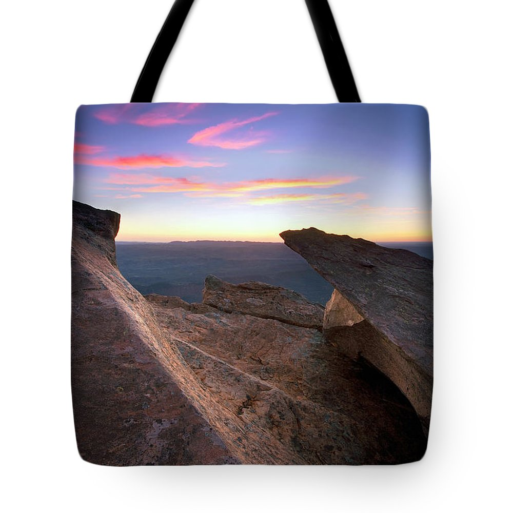 St Mary Peak Sunrise Flinders Ranges South Australia Outback Landscape Tote Bag featuring the photograph St Mary Peak Sunrise by Bill Robinson
