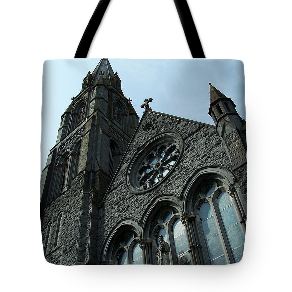 Ireland Tote Bag featuring the photograph St. Mary's Of The Rosary Catholic Church by Teresa Mucha
