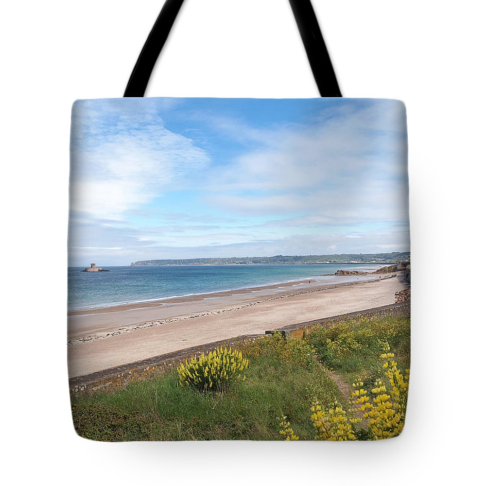 Coastal Scene Tote Bag featuring the photograph St Ouen's Bay Jersey by Gill Billington