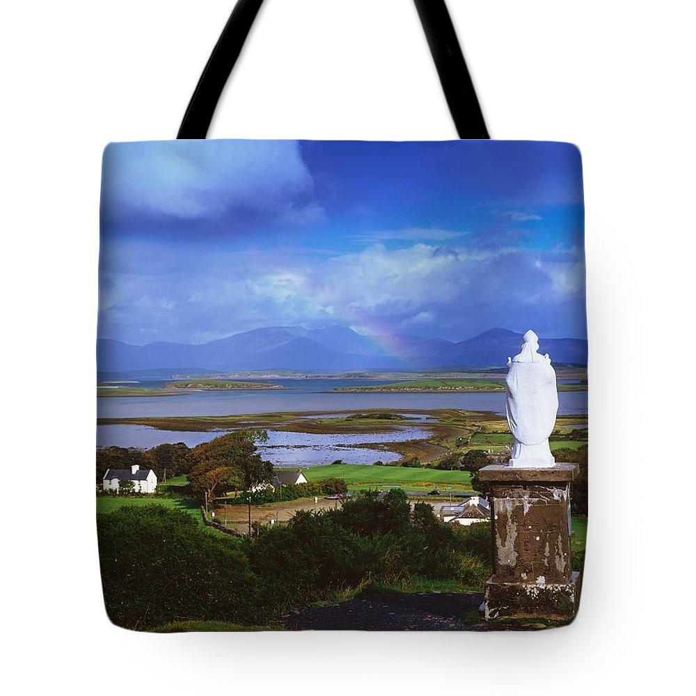 Co Mayo Tote Bag featuring the photograph St Patricks Statue, Co Mayo, Ireland by The Irish Image Collection