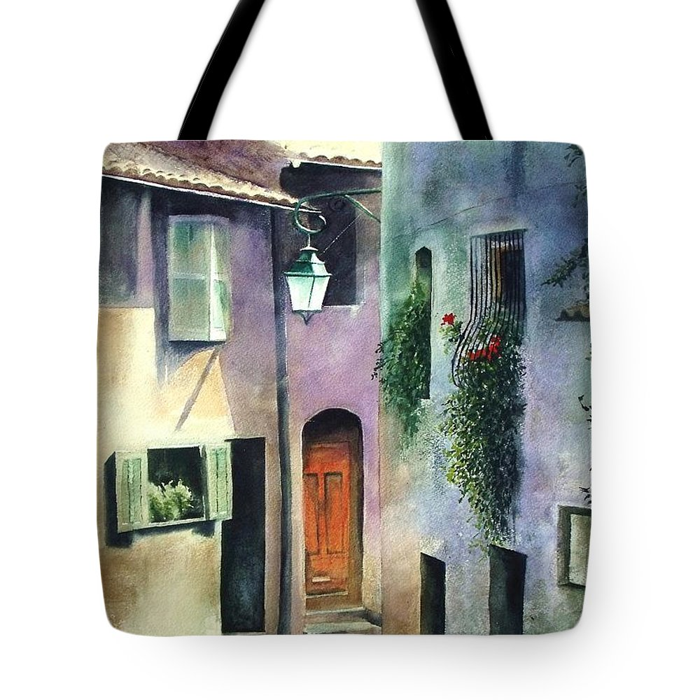 Provence Tote Bag featuring the painting St. Paul De Vence by Madeleine Holzberg