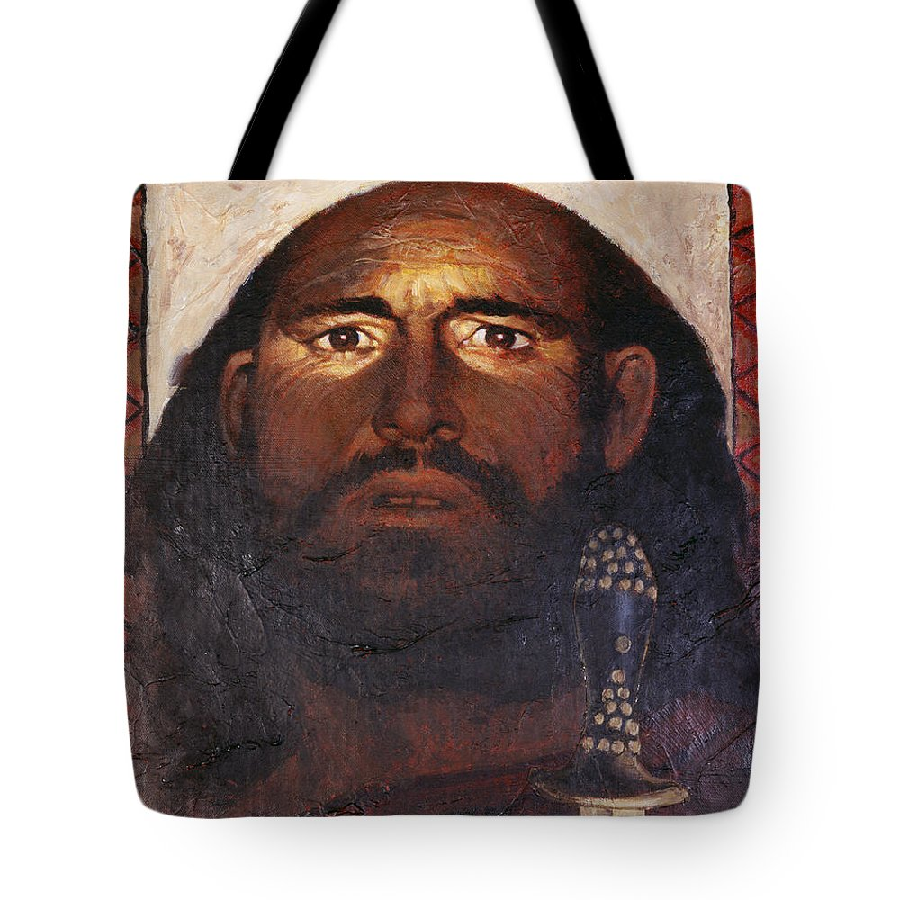 St. Paul Tote Bag featuring the painting St. Paul - Lgpau by Louis Glanzman