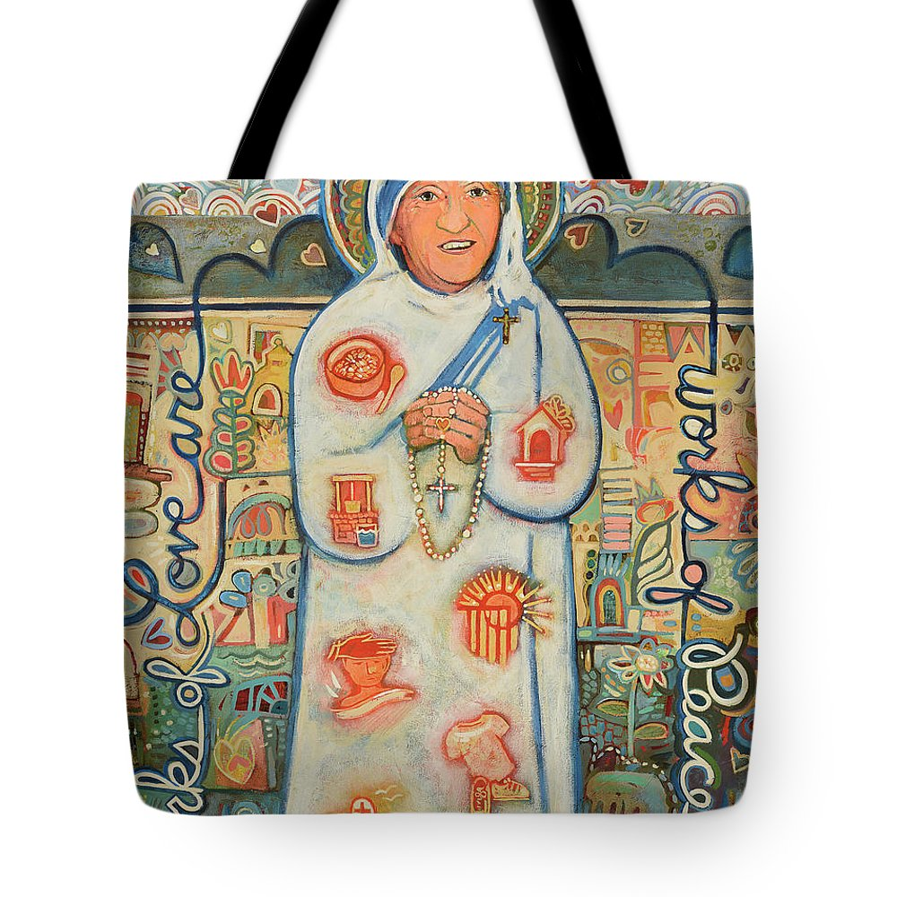 Jen Norton Tote Bag featuring the painting St. Teresa Of Kolkata by Jen Norton