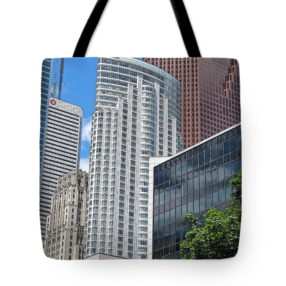 Toronto Tote Bag featuring the photograph Stacked Cubes by Ian MacDonald
