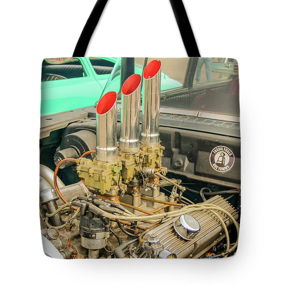 Ratrod Tote Bag featuring the photograph Stacks by Darrell Foster