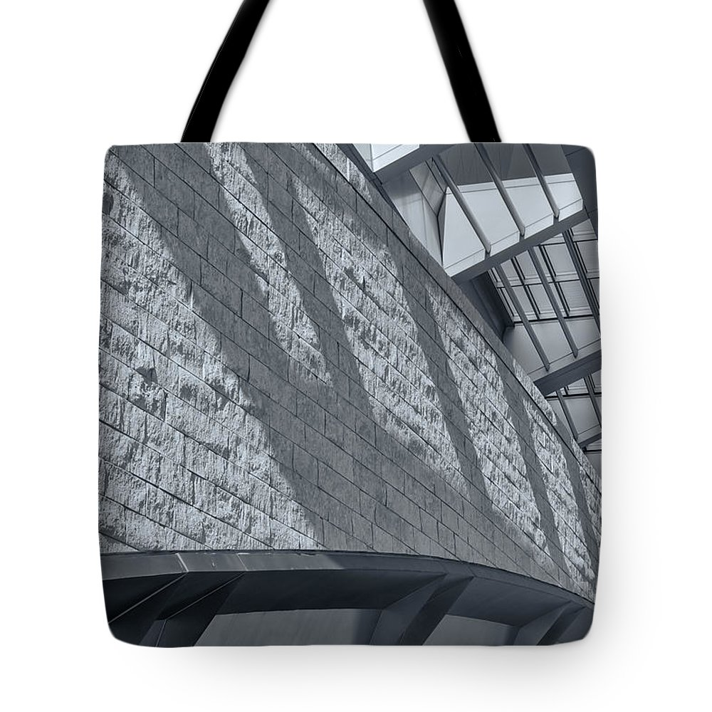 Joan Carroll Tote Bag featuring the photograph Stadium Abstract by Joan Carroll