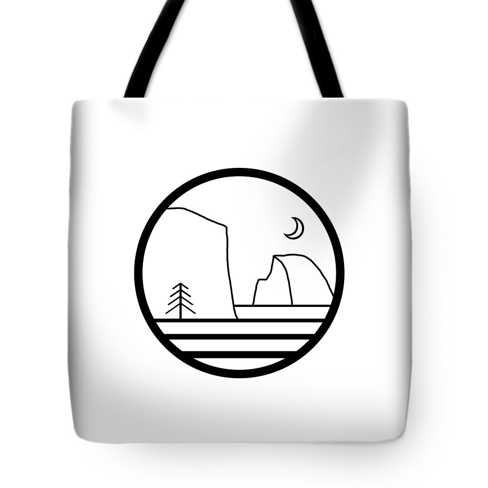 Tote Bag featuring the digital art Staff Logo by Grant Miller