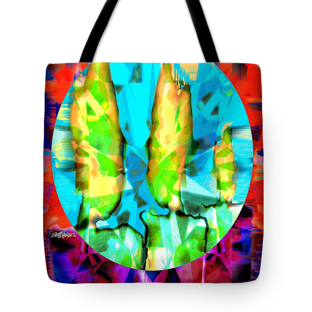 Candles Tote Bag featuring the digital art Stained Glass Candles by Seth Weaver