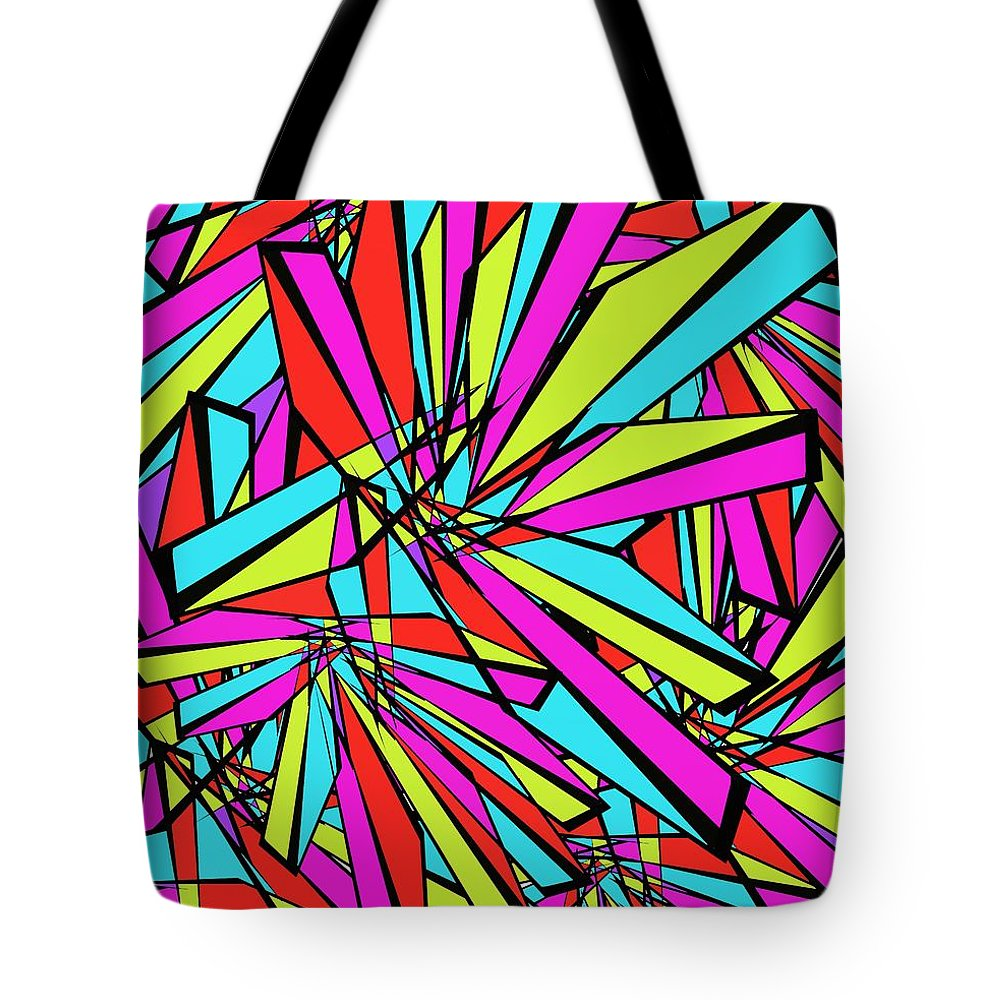 Abstract Tote Bag featuring the digital art Stained Glass by David Michael Schmidt