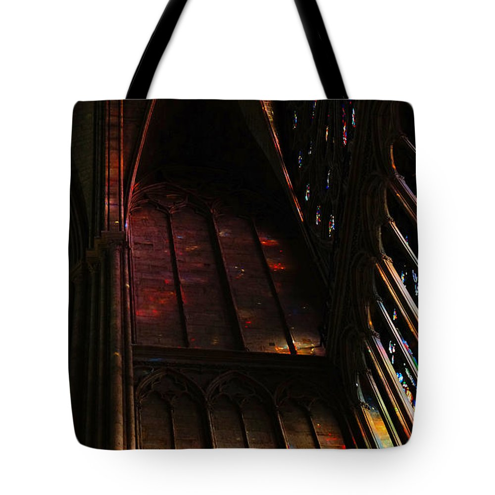Europe Tote Bag featuring the photograph Stained Glass Impression Notre Dame Paris by Lawrence S Richardson Jr