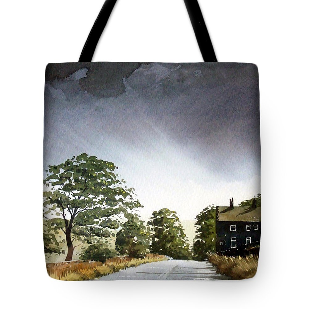 Landscape Tote Bag featuring the painting Stainland Dean by Paul Dene Marlor