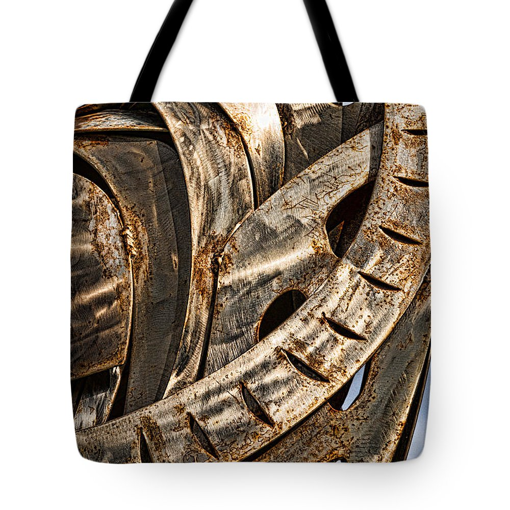 Stainless Tote Bag featuring the photograph Stainless Abstract by Christopher Holmes