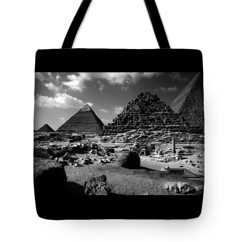 Pyramids Tote Bag featuring the photograph Stair Stepped Pyramids by Donna Corless