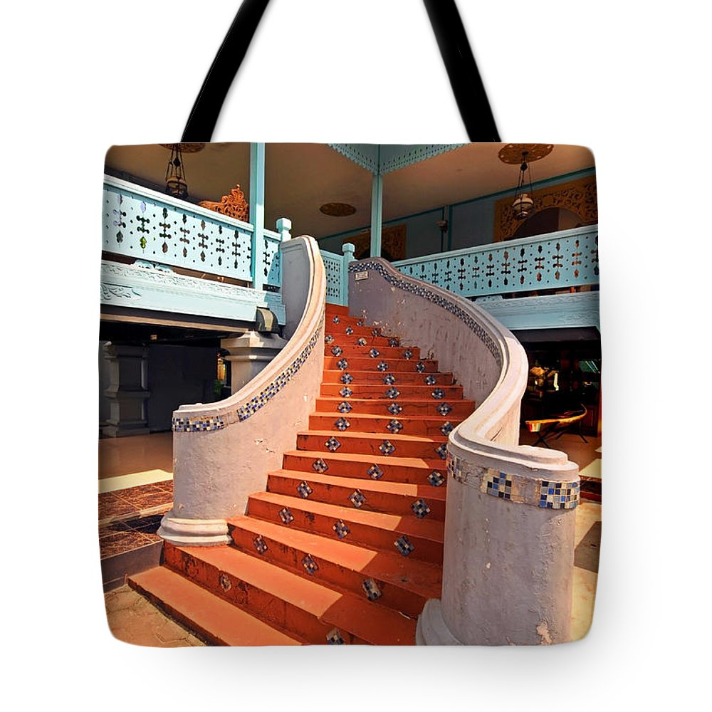 Stairs Tote Bag featuring the photograph Stairs by Charuhas Images