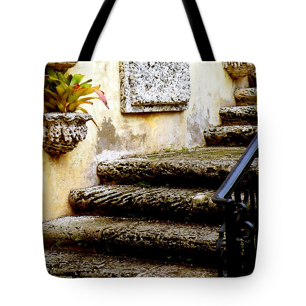 Landscape Tote Bag featuring the photograph Stairs To Life by Patricia Awapara