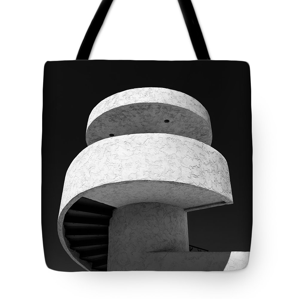 Stairs Tote Bag featuring the photograph Stairs To Nowhere by Dave Bowman