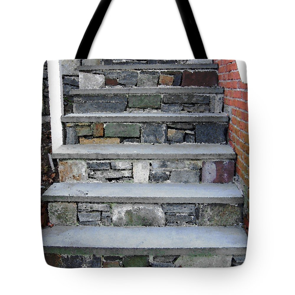 Stairs Tote Bag featuring the photograph Stairs To The Plague House by RC DeWinter