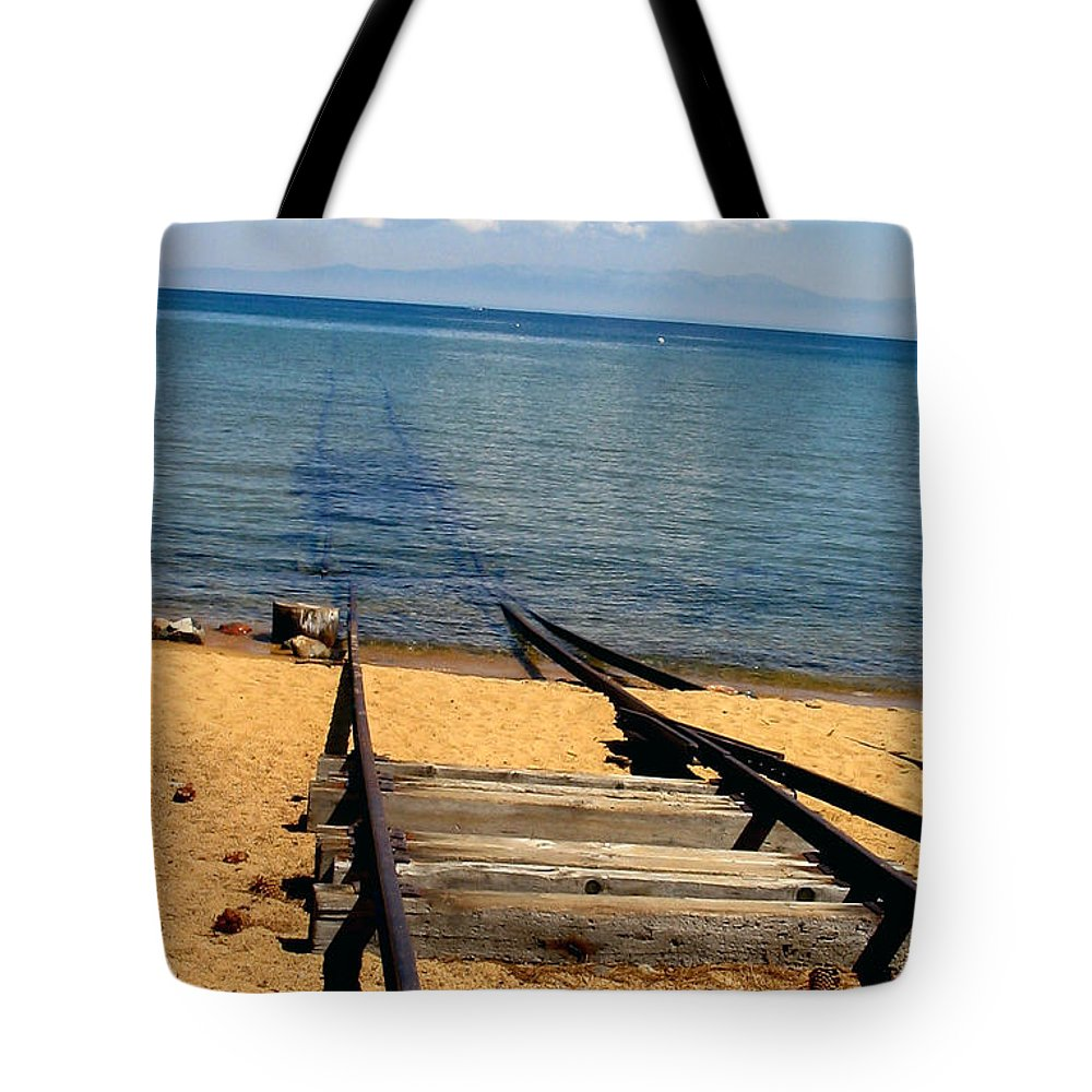 Lake Tote Bag featuring the photograph Stairway To Heaven - Tahoe Lake by Nina Nabokova