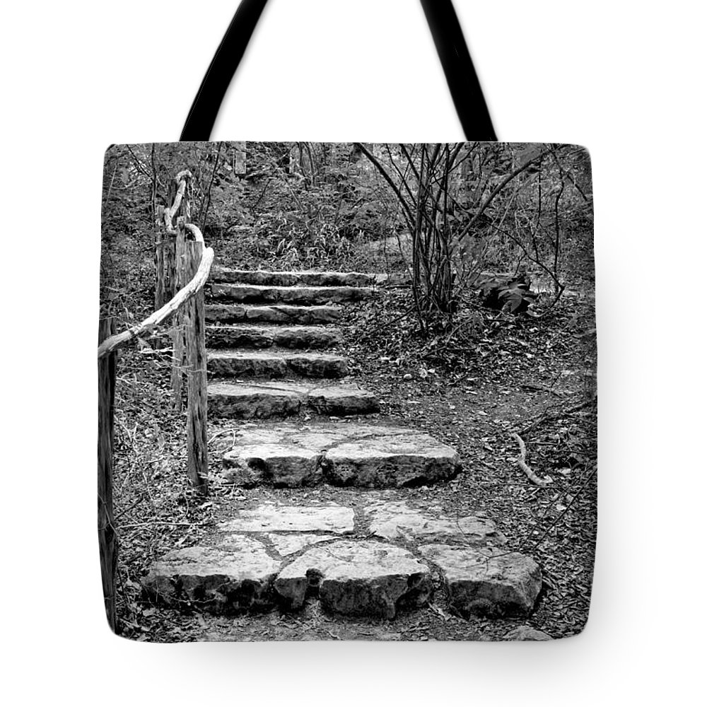 Nature Tote Bag featuring the photograph Stairway To Nature by Gary Richards