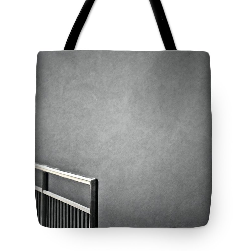 Stairwell Tote Bag featuring the photograph Stairwell by Robert Skuja