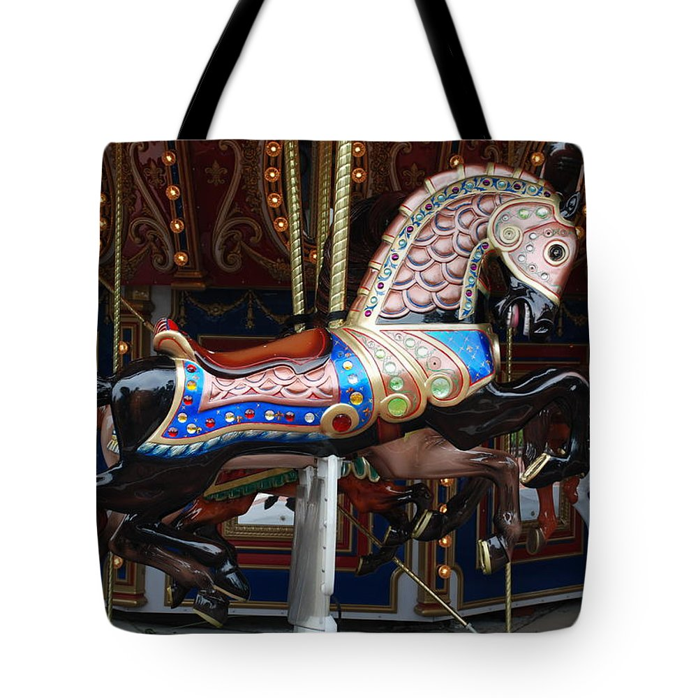 Pop Art Tote Bag featuring the photograph Stallion by Rob Hans