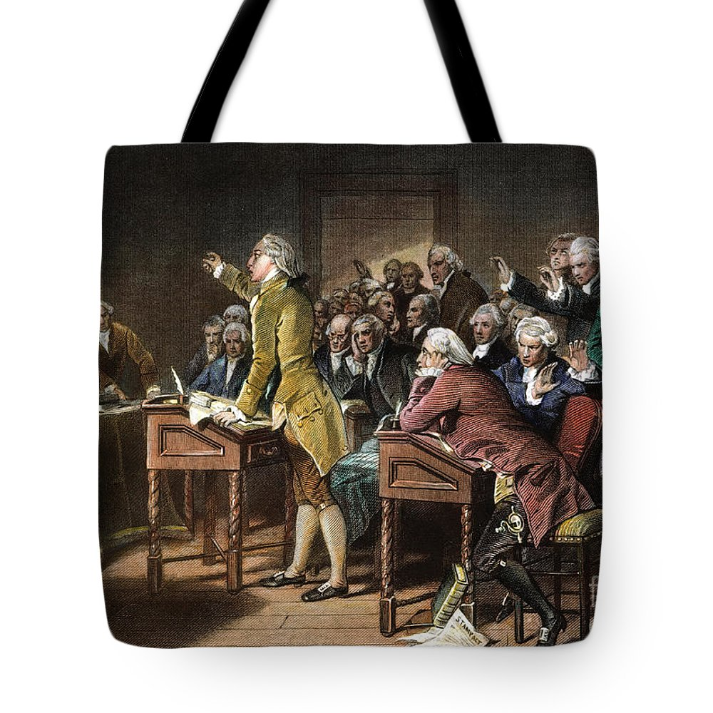1765 Tote Bag featuring the photograph Stamp Act: Patrick Henry by Granger
