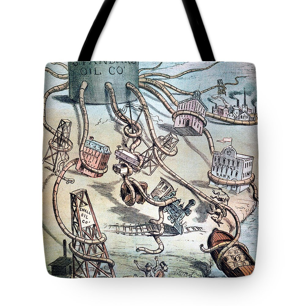 1884 Tote Bag featuring the photograph Standard Oil Cartoon by Granger