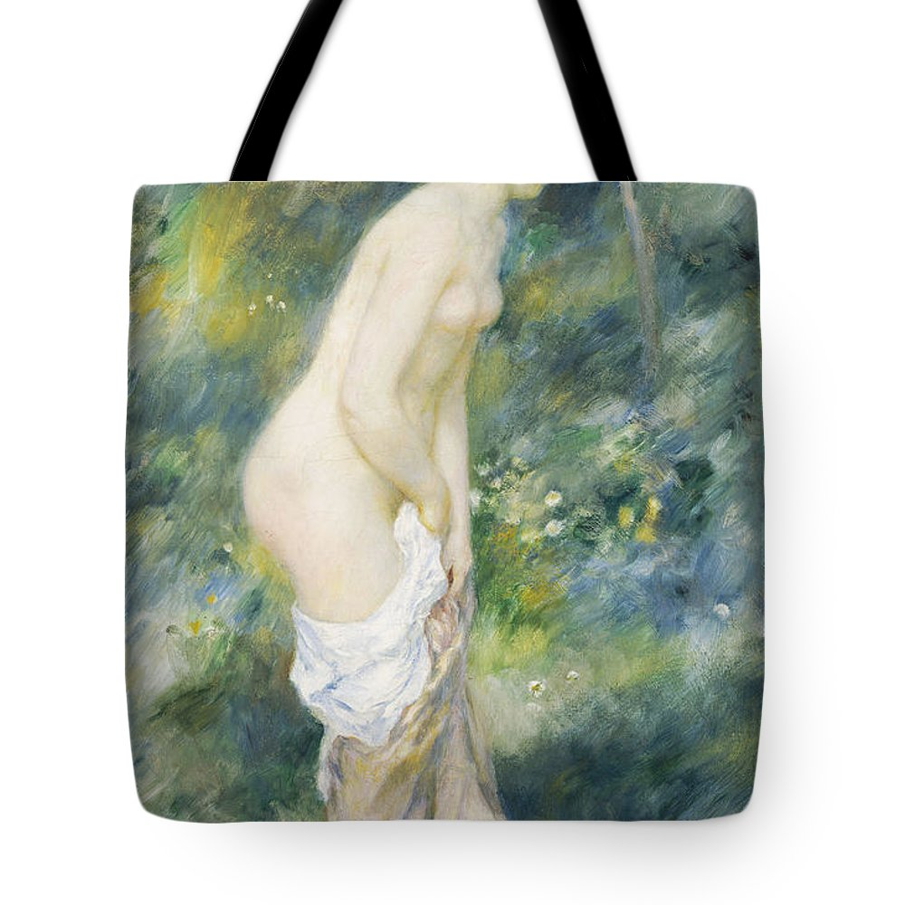 Standing Bather Tote Bag featuring the painting Standing Bather by Pierre Auguste Renoir