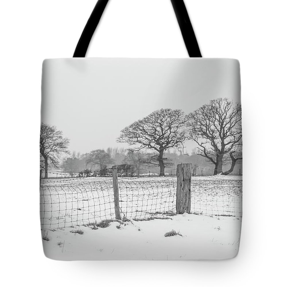Snow Tote Bag featuring the photograph Standing In The Snow by Raelene Goddard
