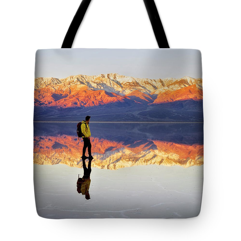 Alone Tote Bag featuring the photograph Standing On Water by Nicki Frates