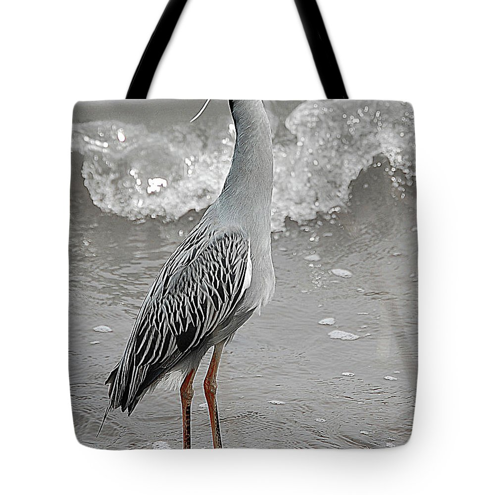Bird Tote Bag featuring the digital art Standing Proud by DigiArt Diaries by Vicky B Fuller