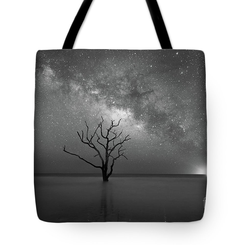 Botany Bay Milky Way Tote Bag featuring the photograph Standing Still Bw by Michael Ver Sprill