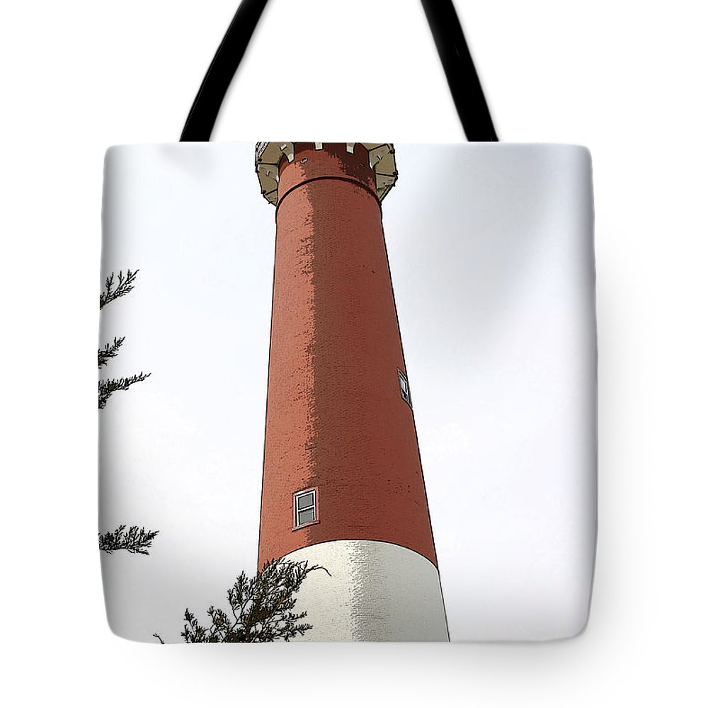 Seascape Tote Bag featuring the photograph Standing Tall by Mary Haber