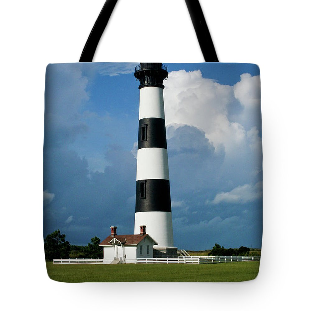 Bodie Island Tote Bag featuring the photograph Standing Tall by Rob Narwid