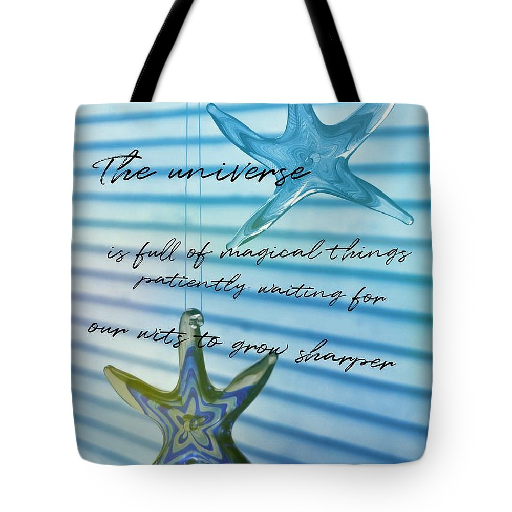 Star Tote Bag featuring the photograph Star Bright Quote by JAMART Photography