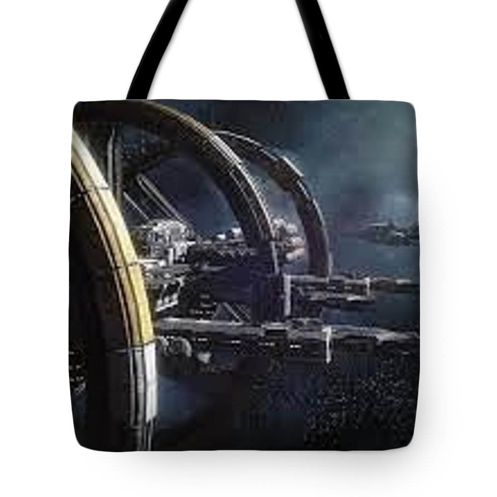 Squadron 42 Tote Bag featuring the sculpture Star Citizen Enlistment - Join Free Today by Squadron42