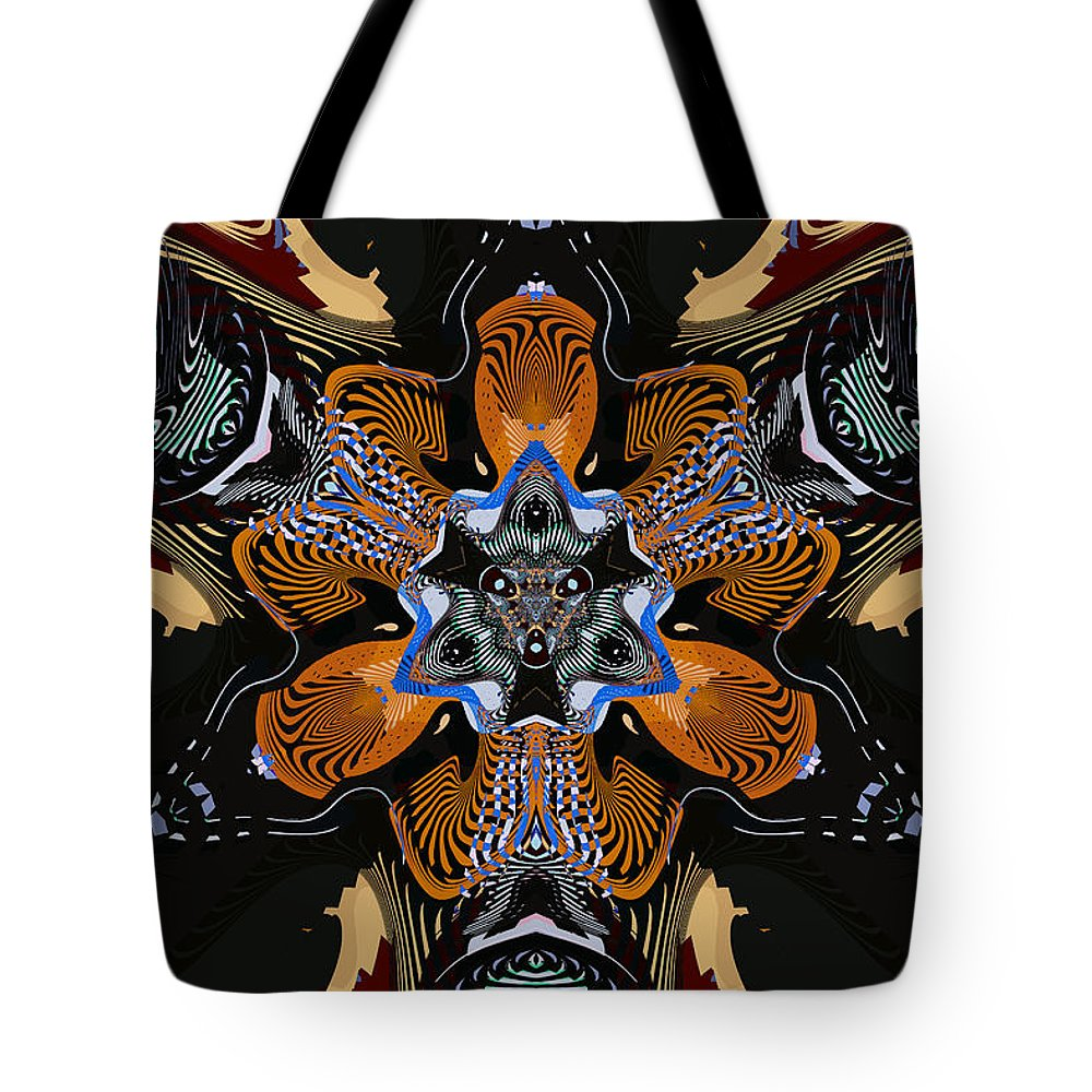 Abstract Tote Bag featuring the digital art Star-crossed Lover by Jim Pavelle