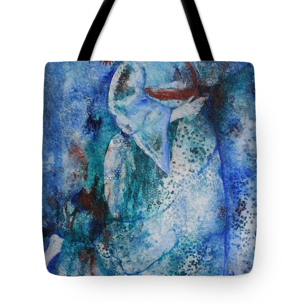 Abstract Tote Bag featuring the painting Star Dancer by Jean Blackmer