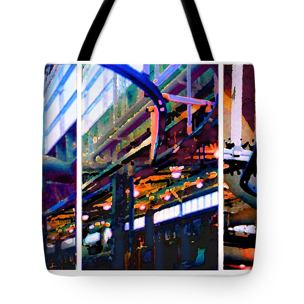 Abstract Tote Bag featuring the photograph Star Factory by Steve Karol