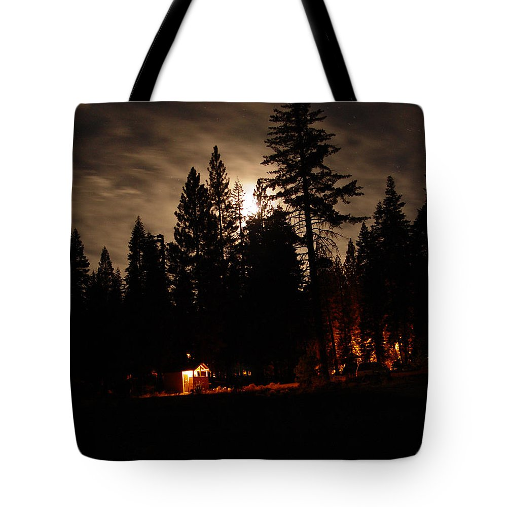 Moonlight Tote Bag featuring the photograph Star Lit Camp by Peter Piatt