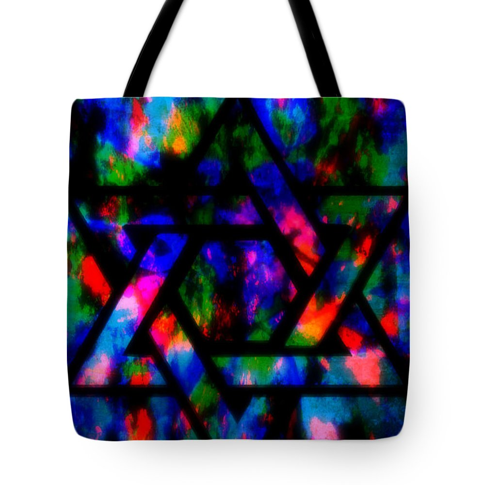 Hebrew Tote Bag featuring the painting Star Of David by Wbk