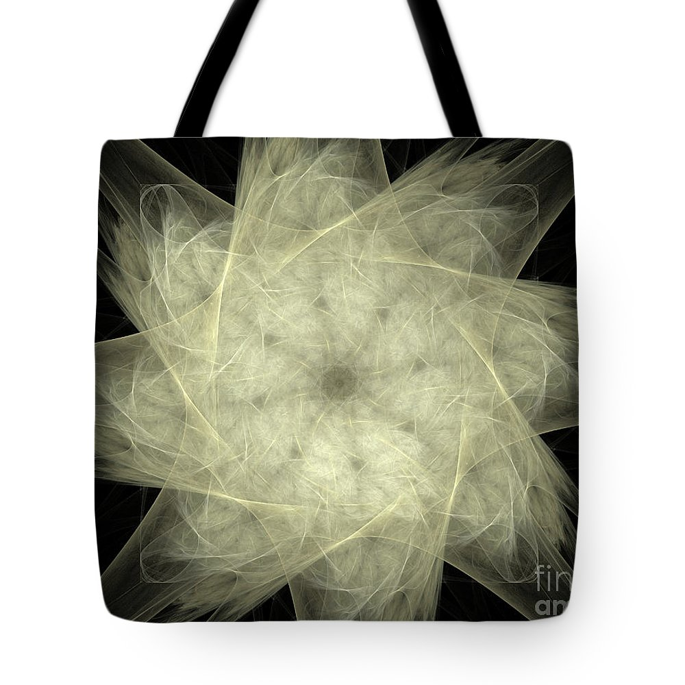 Fractal Tote Bag featuring the digital art Star Of The Future by Deborah Benoit