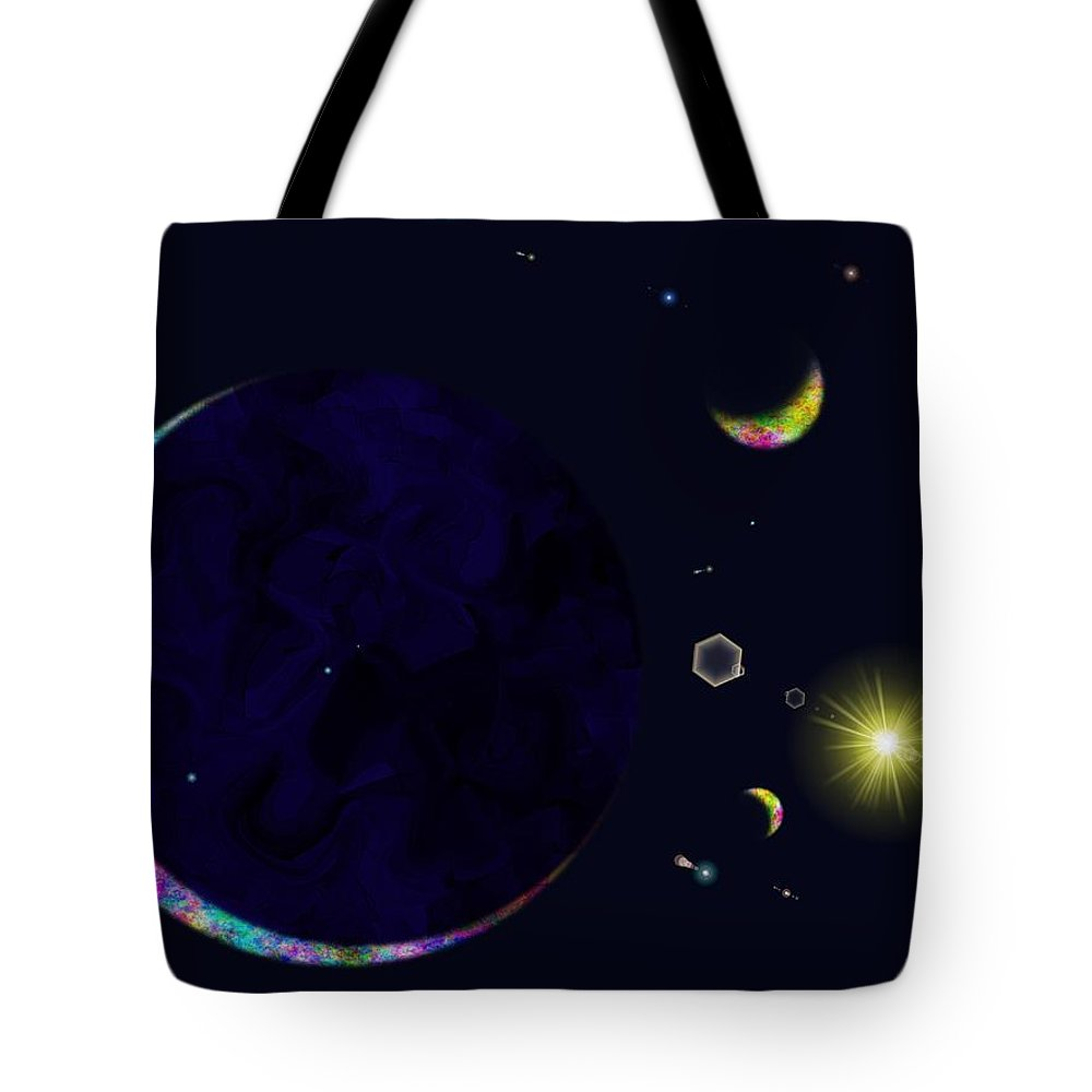 Tote Bag featuring the digital art Star Shine by Tim Allen