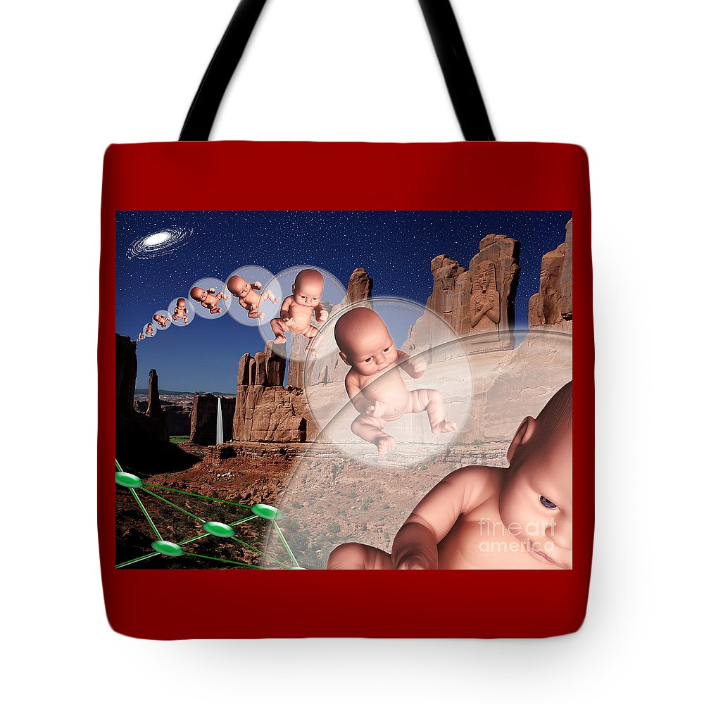 Stars Tote Bag featuring the digital art Star Stuff by Keith Dillon