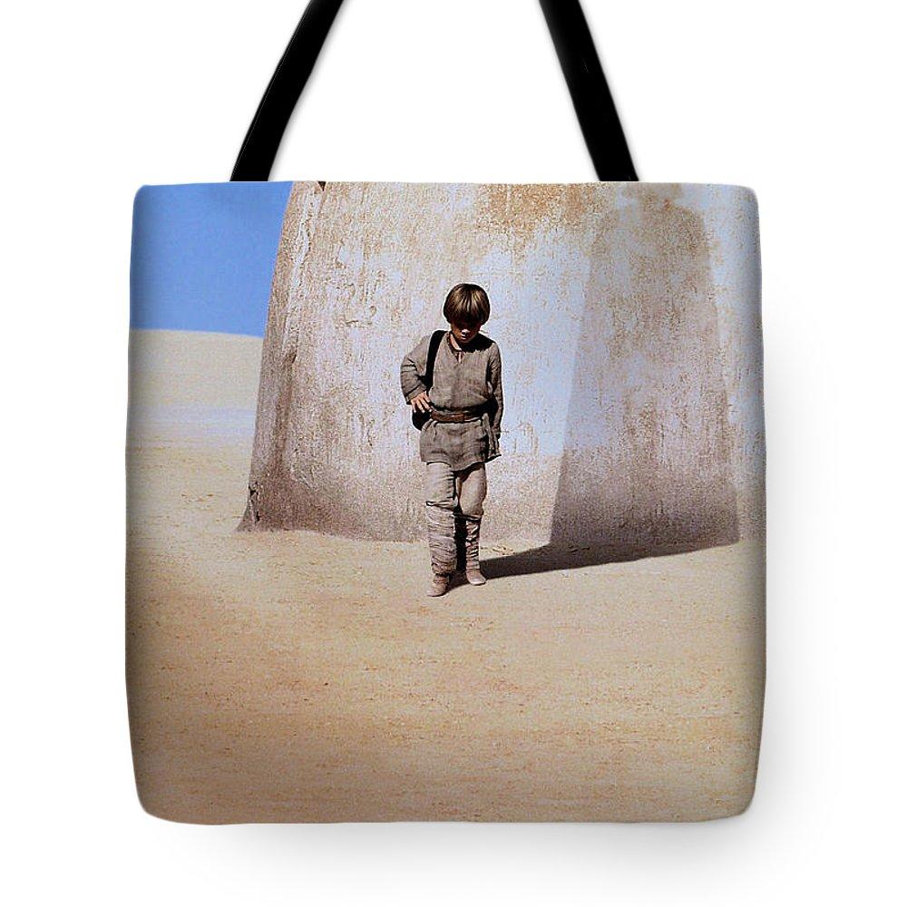 Star Wars Tote Bag featuring the digital art Star Wars Episode I - The Phantom Menace 1999 7 by Geek N Rock