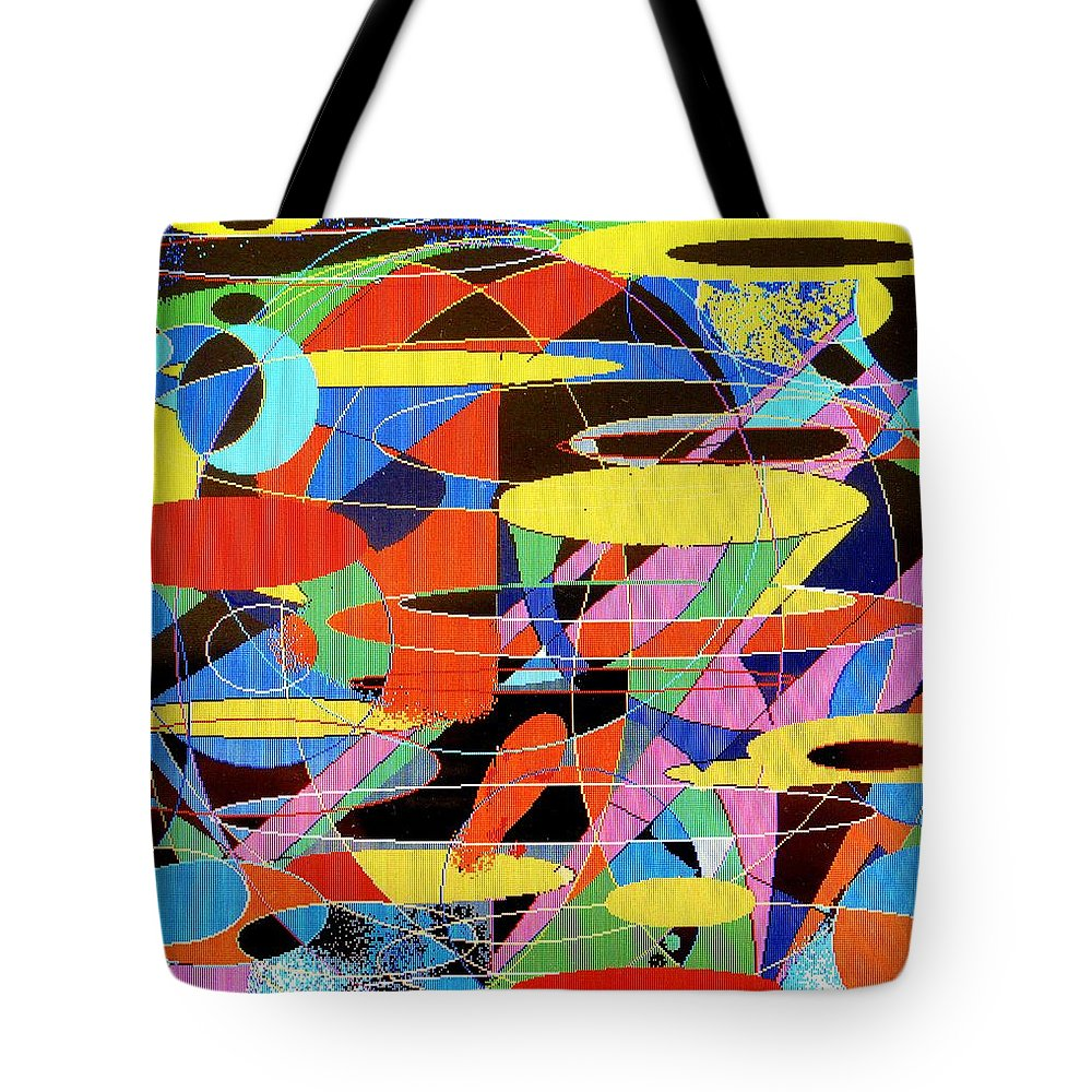 Abstract Tote Bag featuring the digital art Star Wars by Ian MacDonald