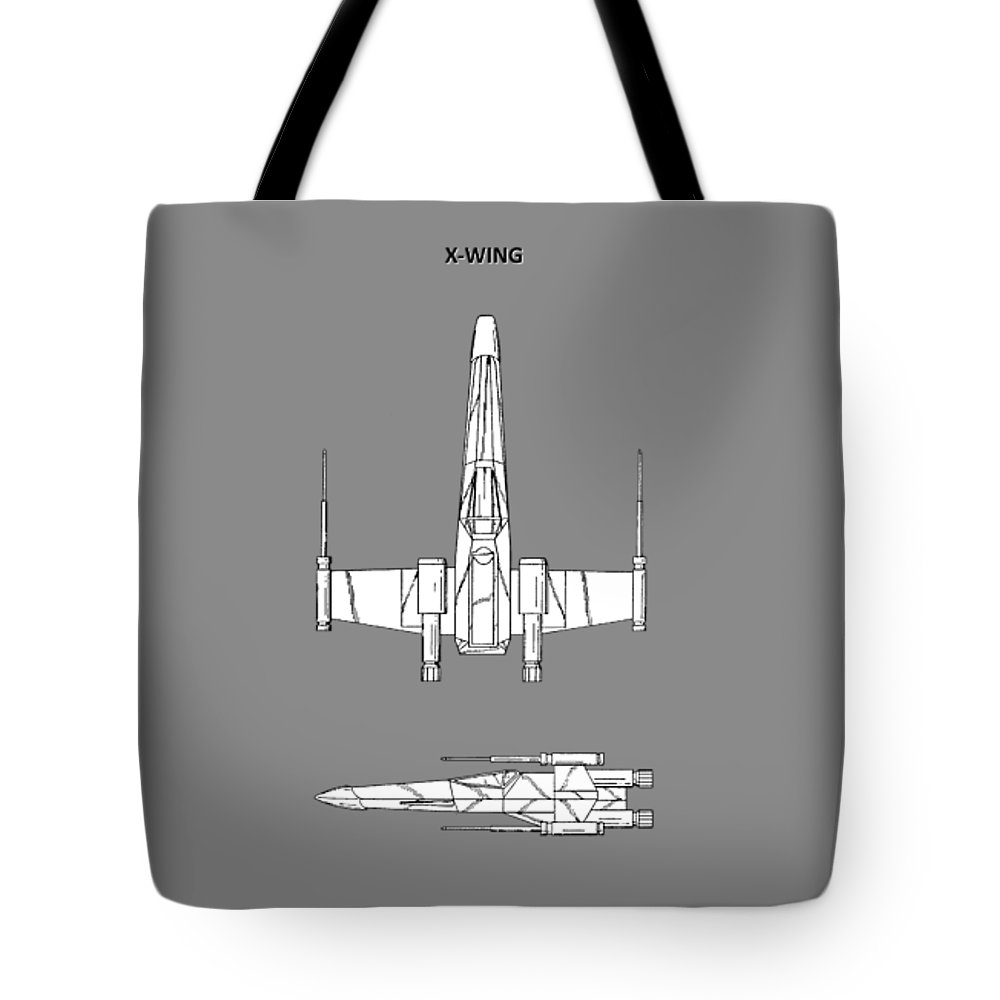 X-wing Tote Bag featuring the photograph Star Wars X-wing Fighter by Mark Rogan