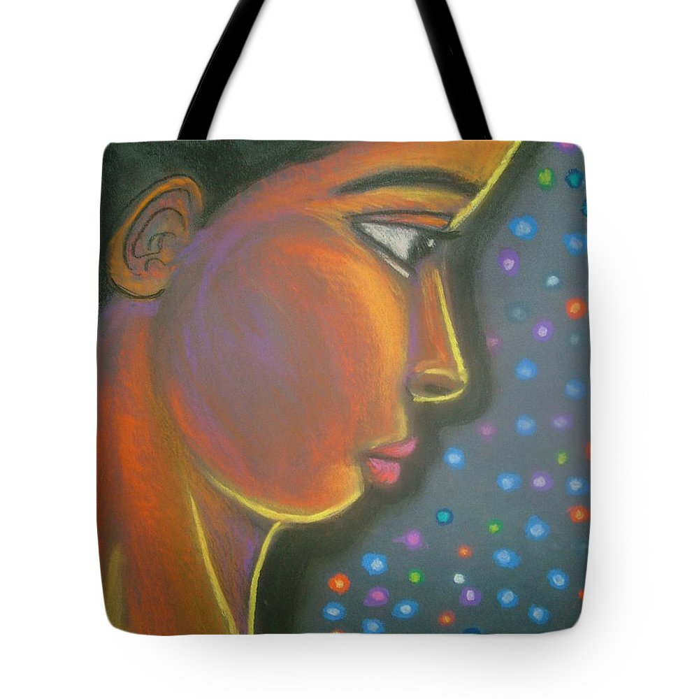 Tote Bag featuring the drawing Starbrite by Jan Gilmore