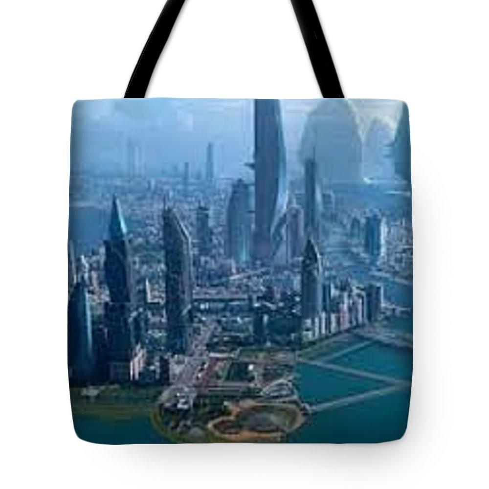 Star Citizen Tote Bag featuring the sculpture Starcitizen by StarCitizen