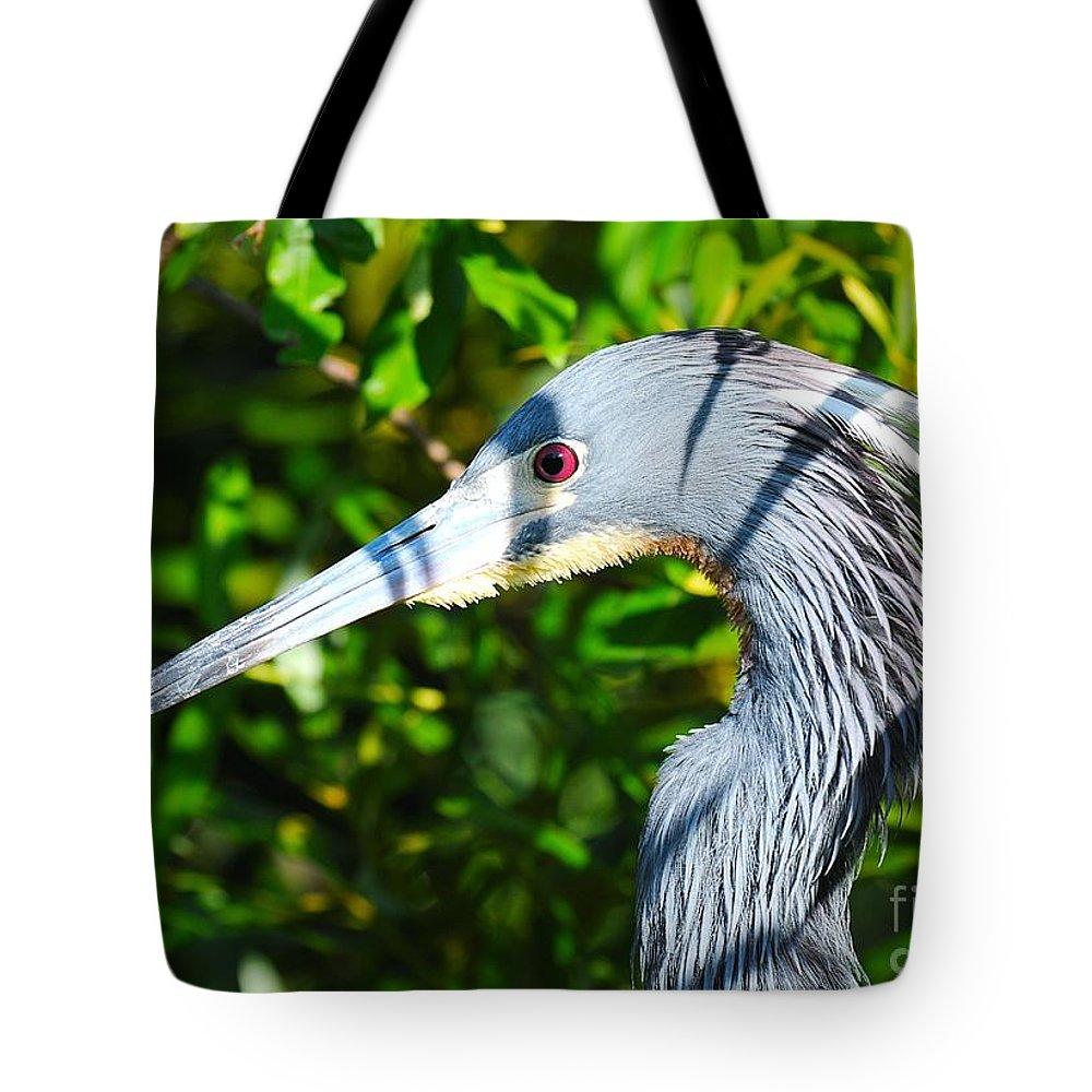 Heron Tote Bag featuring the photograph Stare Down by John C Saponara Jr